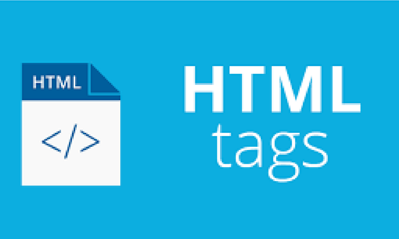 html tags ecommerce website