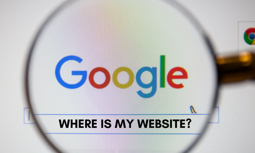 why can i not find my website on google