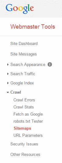 google webmaster tools sitemap alba
