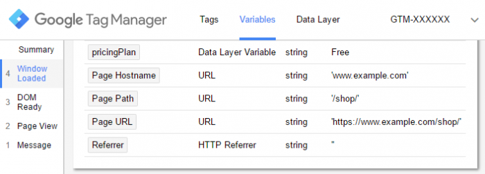google tag manager previewed